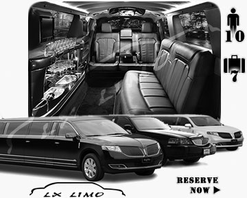 Stretch Limo airport shuttle in Saint Louis