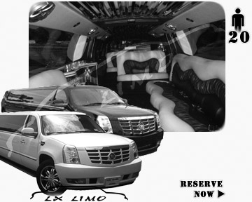 Cadillac Escalade 20 passenger SUV Limousine for rental in Saint Louis MO