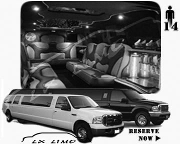 Lincoln Excursion SUV Limo for hire in Saint Louis MO